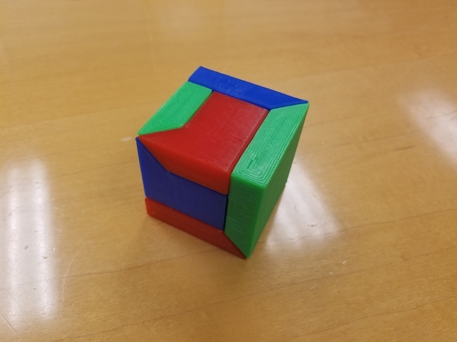 3d printed 3 piece puzzle cube box by frank26080115 pinshape
