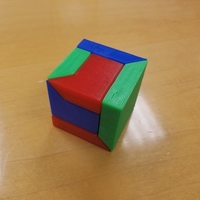 Small 3 Piece Puzzle Cube Box 3D Printing 211179