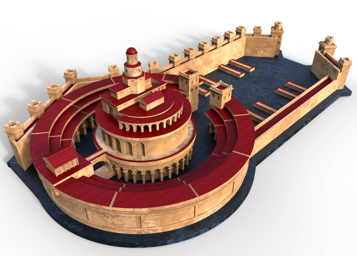 Punic Port of Carthage (Restitution) 3D Print 211201