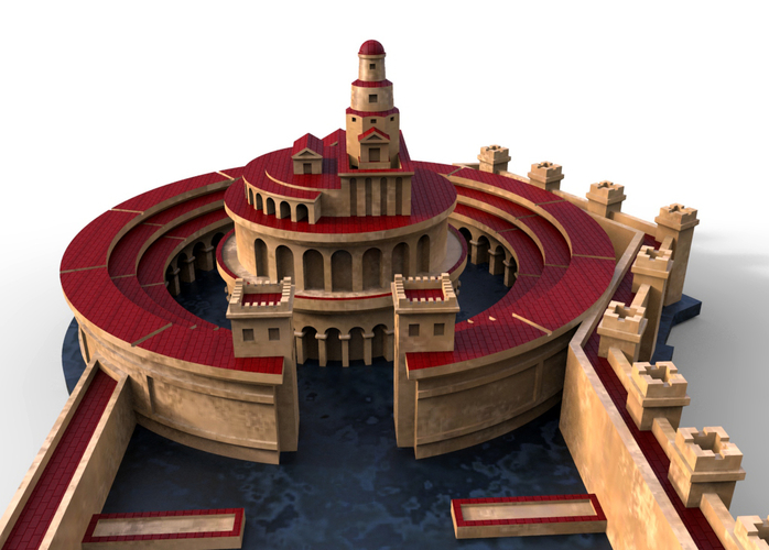 Punic Port of Carthage (Restitution) 3D Print 211202