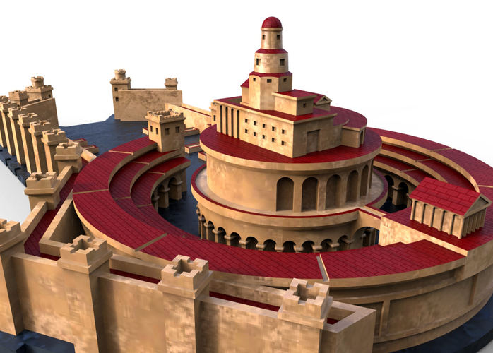 Punic Port of Carthage (Restitution) 3D Print 211204