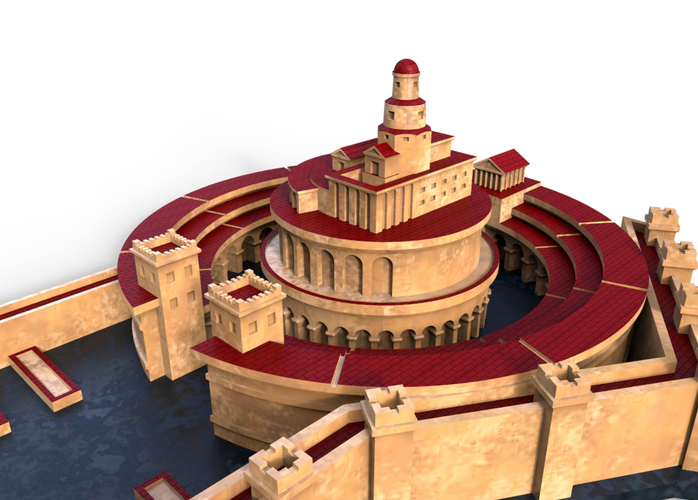Punic Port of Carthage (Restitution) 3D Print 211205