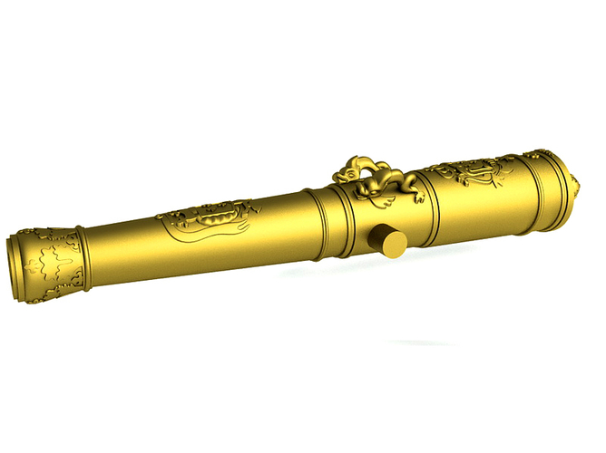 Bronze Cannon - The Count of Toulouse - 1692 3D Print 211239
