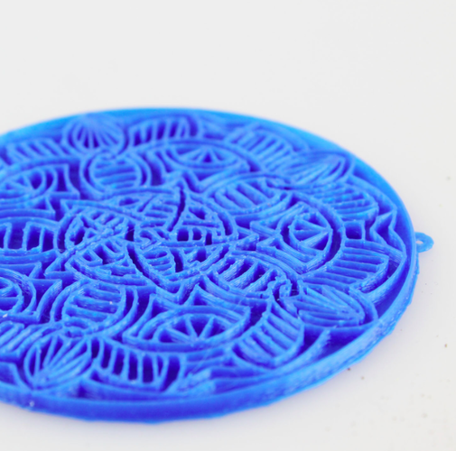 Mandala Necklace 3D Print 21124