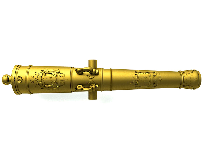 Bronze Cannon - The Count of Toulouse - 1692 3D Print 211240
