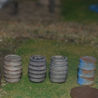 Small HO scale, 1/87, wood barrels 3D Printing 21125