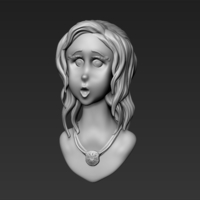 Small Girl Bust 3D Printing 211400