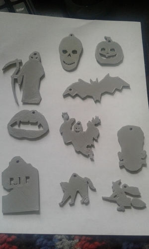 Halloween Keychain Collection 3D Print 211417