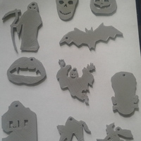 Small Halloween Keychain Collection 3D Printing 211417