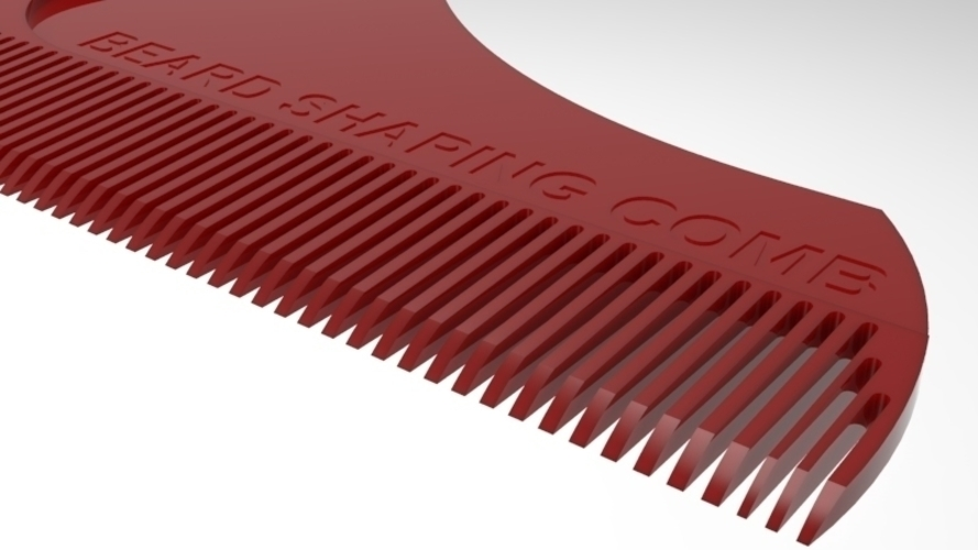 beard shaping comb 3D Print 211422