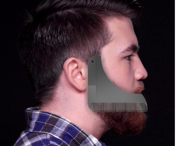 beard shaping comb 3D Print 211423