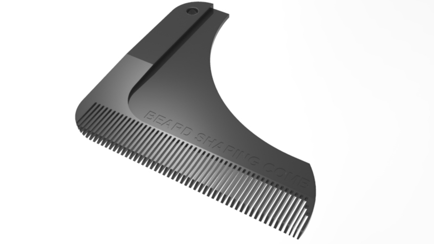 beard shaping comb 3D Print 211424