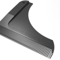 Small beard shaping comb 3D Printing 211424