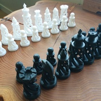 Small Spiral Chess Set (Large) 3D Printing 21146