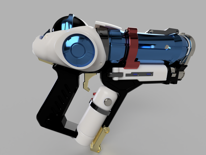 DIY Overwatch real size Mei Endothermic Blaster HQ printable kit 3D Print 211505