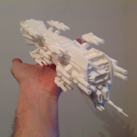 Small Babylon 5 Nova dreadnought 3D Printing 211604