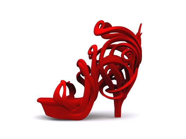 Medium Art Nouveau Shoe  3D Printing 21163