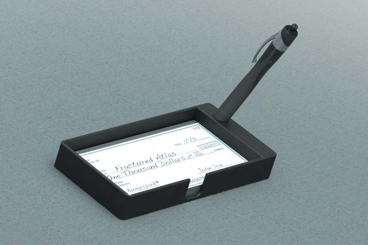 Checkbook & Pen Holder 3D Print 21229
