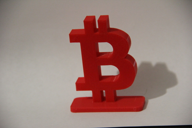 Simple Bitcoin Stand 3D Print 21233