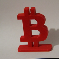 Small Simple Bitcoin Stand 3D Printing 21233