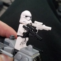 Small Lego Storm Trooper Blaster 3D Printing 21237