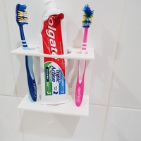 Small Toothbrush Caddy 3D Printing 212370