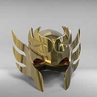 Small Libra helmet from Saint Seiya 3D Printing 212383
