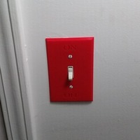 Small ON/OFF Wall Plate for Light Switch 3D Printing 21239
