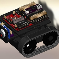 Small ZUMO chassis + d.c. Motor Driver + RoboGuts™ + PICAXE 28X2 3D Printing 212493