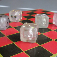 Small Embedded Skull Dice for transparent print 3D Printing 212561