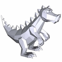 Small Dino Gorinich low-polygon model 3D Printing 212706