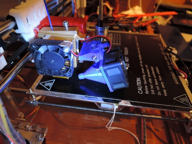 Sintron MK8 Extruder Z-Sensor and Cooling Fan bracket 3D Print 21273