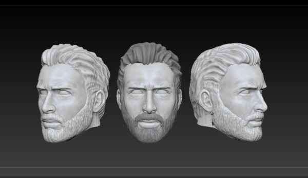 Medium Head Steve Rogers (Infinity War ver.) 3D Printing 212730