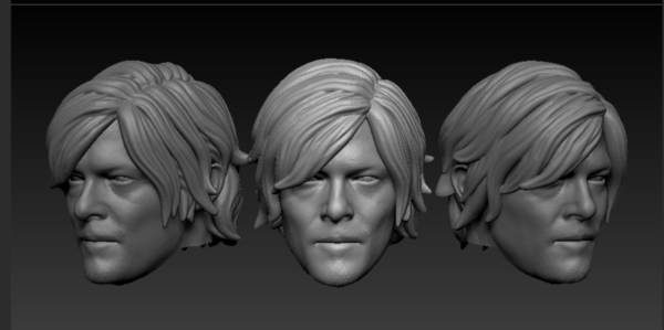Medium Head Daryl Dixon The Walking Dead 3D Printing 212734