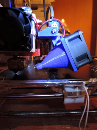 Sintron MK8 Extruder Z-Sensor and Cooling Fan bracket 3D Print 21274