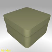 Small Square Shaped Box Rounded - Small 3D Printing 212953