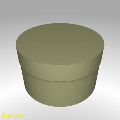 Round Shaped Box - Small 3D Print 212954