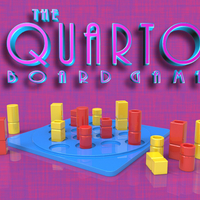 Small Quarto Board Game 3D Printing 213013