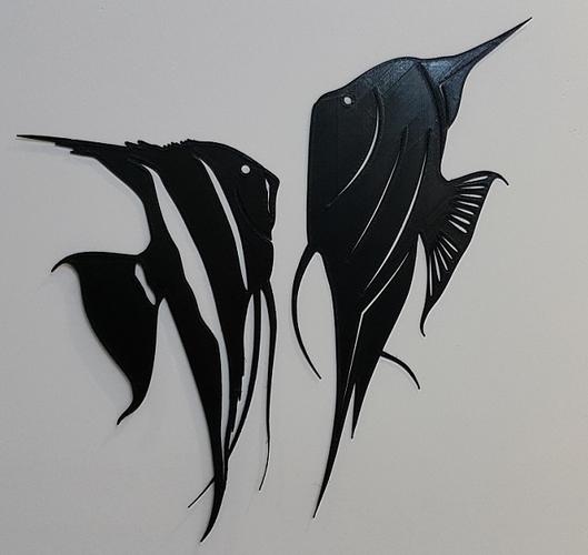 3D Printed ANGEL FISH WALL ART \\ DECOR by 3dprintlines | Pinshape