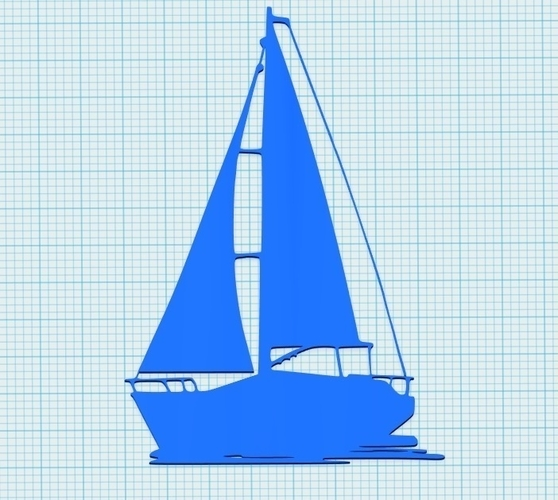 Sailing boat for wall decoration_4 3D Print 213054