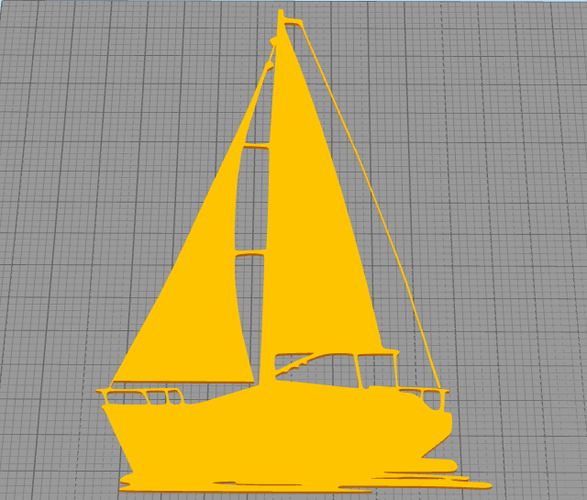 Sailing boat for wall decoration_4 3D Print 213055