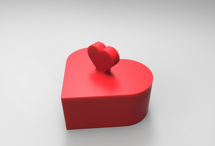 Heart Jewelry box V1.5 (updated) 3D Print 21322