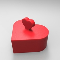 Small Heart Jewelry box V1.5 (updated) 3D Printing 21322