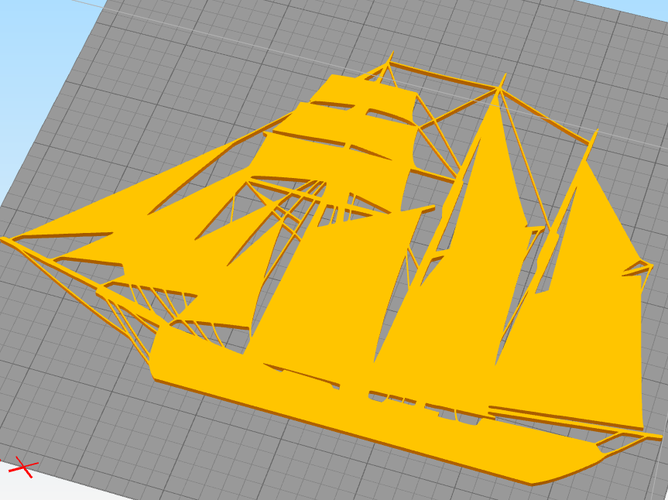 SAILING BOAT FOR WALL DECORATION_1 3D Print 213263