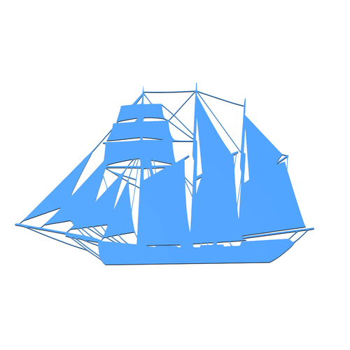 SAILING BOAT FOR WALL DECORATION_1 3D Print 213265
