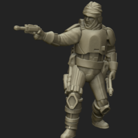 Small Nerfed Bounty Hunter 3D Printing 213270