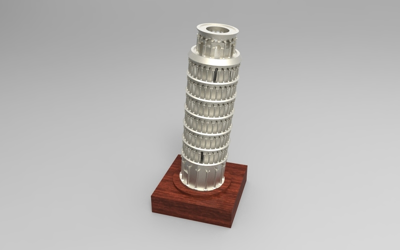 The Leaning Tower of Pisa 3D Print 21329