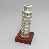 Small The Leaning Tower of Pisa 3D Printing 21329