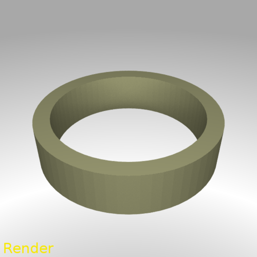 Flat Ring Thin - Size 7 3D Print 213303