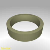 Small Flat Ring Thin - Size 7 3D Printing 213303